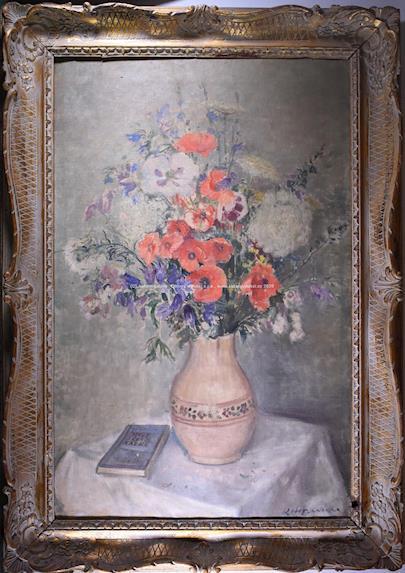 Karel Hofman - Váza s lučním kvítím VELKÝ ROZMĚR