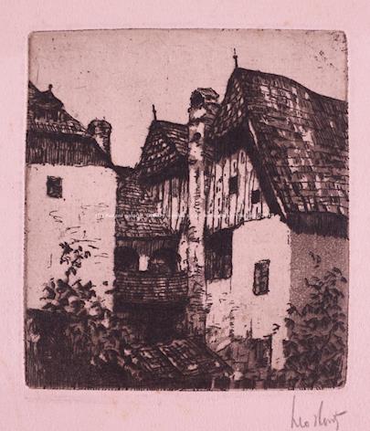 různí autoři - Soubor 8 grafických listů 1880-1920