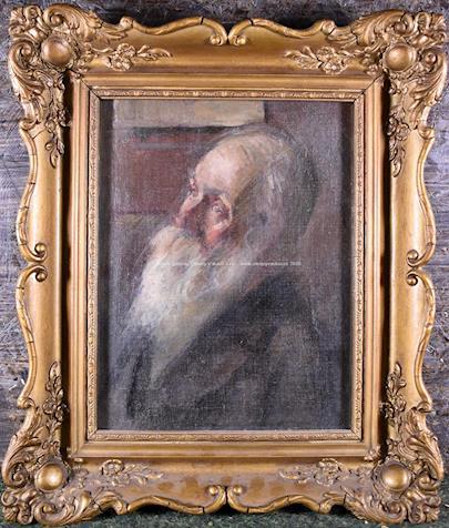 český malíř přelomu 19. a 20. století - Portrét muže s bradkou
