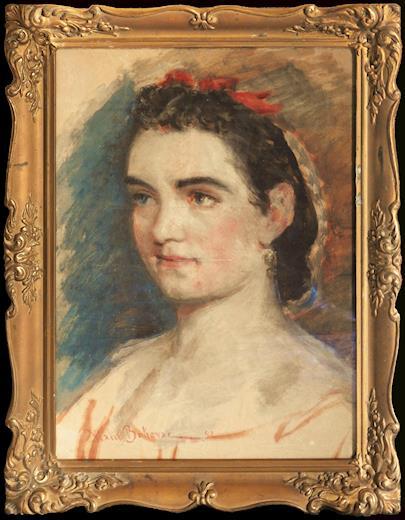 Vlaho Bukovac - Portrét dívky
