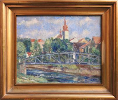 Vincenc Beneš - Pohled na město