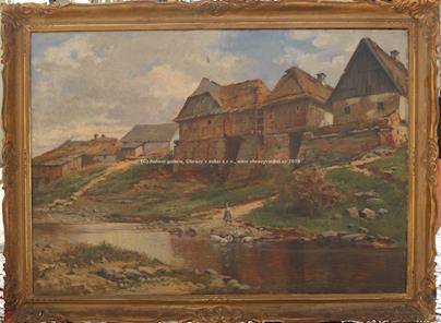 Marceli Harasimowicz - U řeky ve vsi VELKÝ FORMÁT