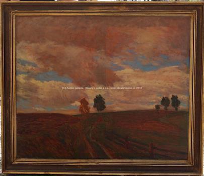 Antonín Hudeček - Cesta v polích VELKÝ FORMÁT
