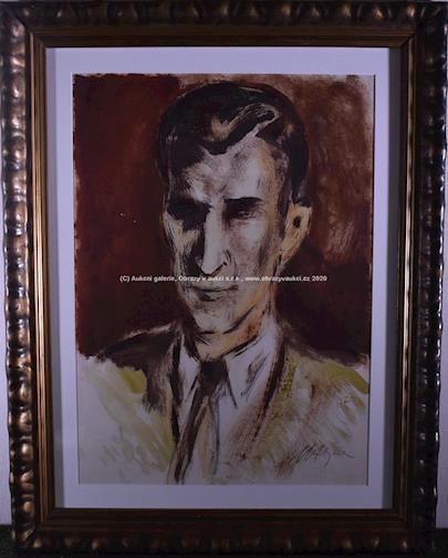 Václav Hejna - Portrét Jiřího Ortena