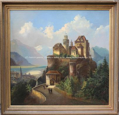 Ferdinand Lepié - Hrad v romantické krajině