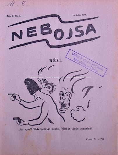 Josef Čapek - Soubor 5 obálek časopisu Nebojsa