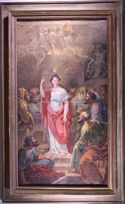 Joseph Führich - Disputace sv. Kateřiny Alexandrijské
