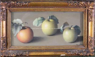 František Xaver Diblík - Zátiší s jablky