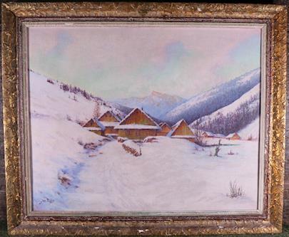Josef Bába - Vesnička pod horami
