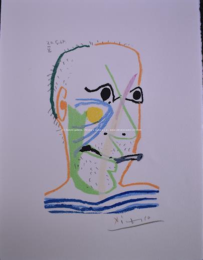 Pablo Picasso - Kuřák - The Man smoking