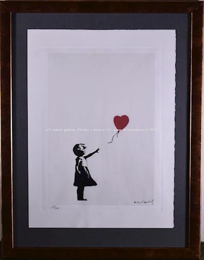 Banksy - Dívka s balonem