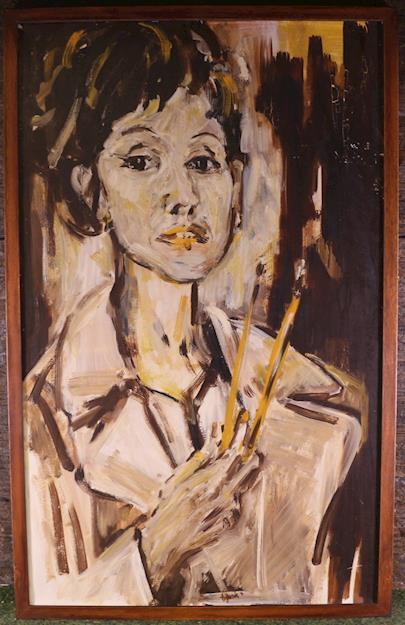 Alena Vaicová - Autoportrét