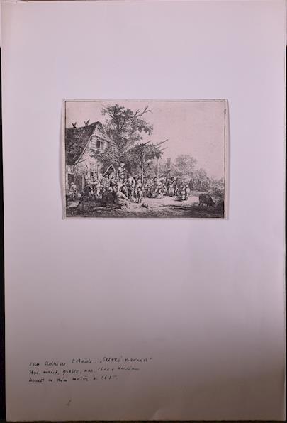 Adrien van Ostade, J.D. Both, Ad. Rottmann, C.W. Medau - Soubor 6 grafických listů