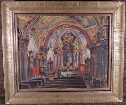 signatura nečitelná - Interiér kostela