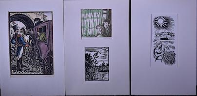M. Florian, V. Fleissig, V. Fiala, F. Emler, J. Grus, J. Hlína, J. Hladík, Z. Heritasová, V. Hejna, R. Havelka, B. Hanuš - Soubor 57 drobných grafických listů
