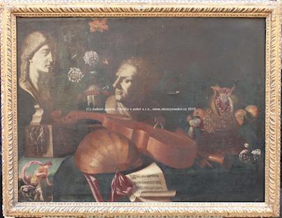 středoevropský malíř 18. stol. - Hudební zátiší