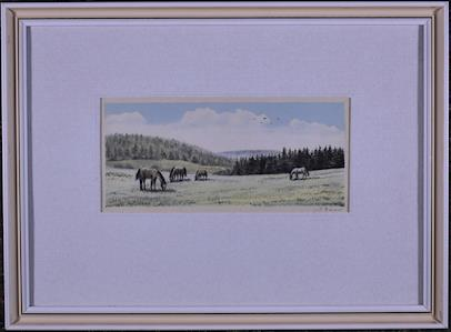 Jiří Bouda - Koně na pastvě