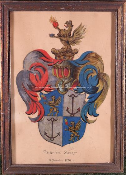 středoevropský malíř 18. stol. - Rodový erb