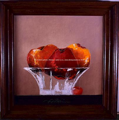 Jan Rapin - Zátiší s ovocem