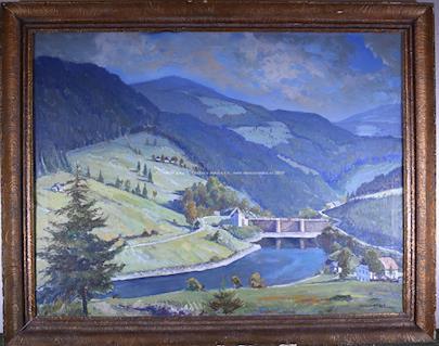 Alfred Roller - Přehrada v Alpách VELKÝ FORMÁT