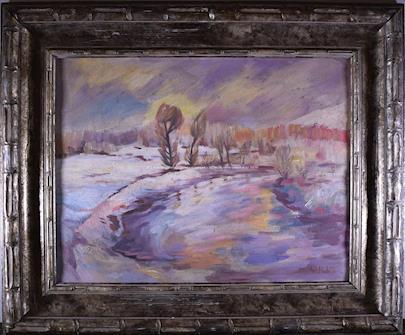 Antonín Hudeček - Zimní krajina