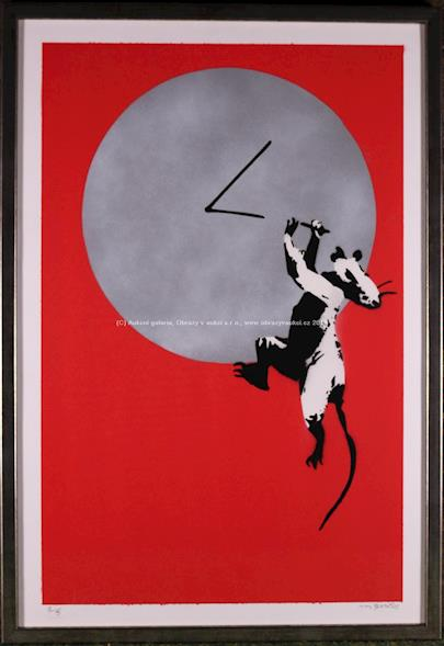 Banksy - Clock rat