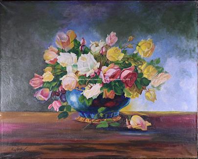 neznámý autor  - Pestrobarevná kytice