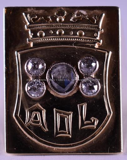 . - Prsten s diamantovou rosetou a brilianty AOL, zlato 585/1000, značeno platnou puncovní značkou Z-58, hrubá hmotnost 13,96 g