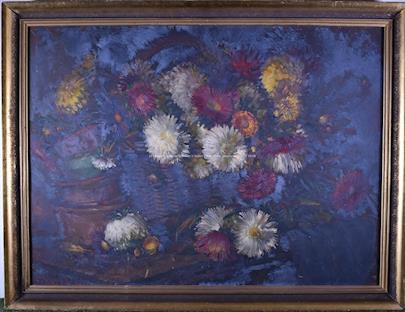 Karl Truppe - Zátiší s květinami