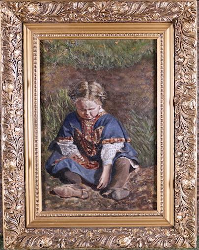 ruský malíř přelomu 19. a 20. století - Děvčátko v kroji