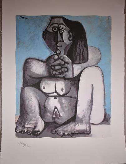 Pablo Picasso - Sedící ženský akt