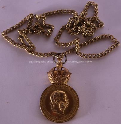 . - Vojenská záslužná medaile Signum Laudis F. J. I. - zlacený bronz