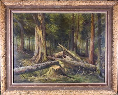 monogramováno FS - Tajemný les