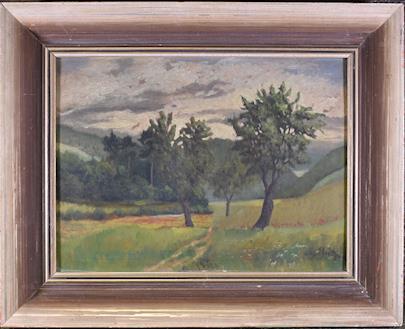 Augustin Josef Ekart - Pohled do lesa