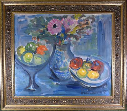 František Hanáček - Zátiší s ovocem