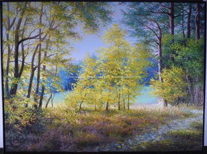 Alexandr Iljuščenko - Hra světla v podzimním lese