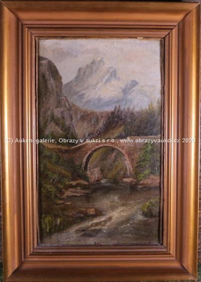 evropský malíř přelomu 19. a 20. stol. - Most v horách