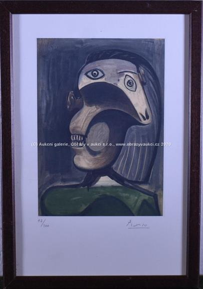 Pablo Picasso - Kubistická hlava