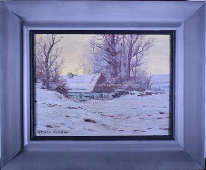 Otakar Hůrka - Stavení v zimě