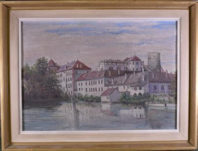 středoevropský malíř počátku 20. stol. - Jindřichův hradec