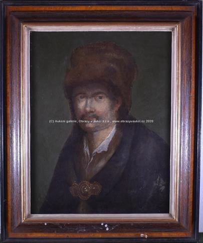středoevropský malíř kolem roku 1900 - Muž v beranici