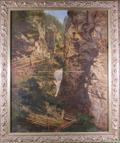 středoevropský malíř kolem roku 1900 - Skalní soutěska