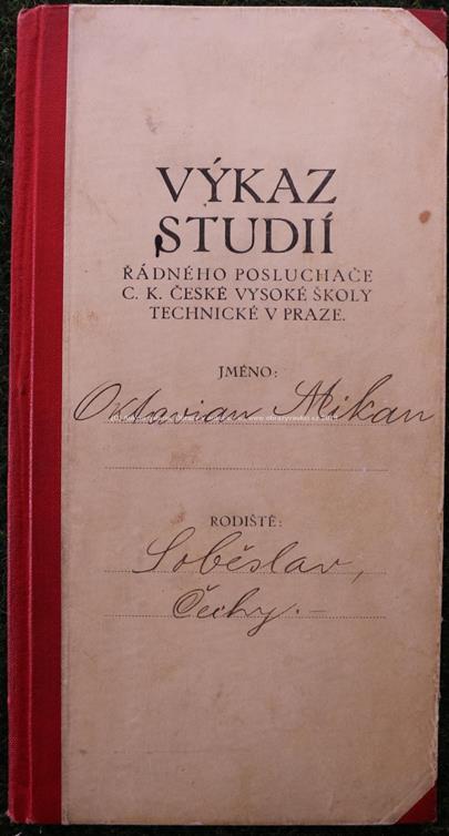 František Drtikol - Výkaz studií a Abiturienti gymnázia v Praze III