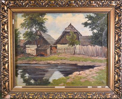 V. Novák - Rybník před chalupou