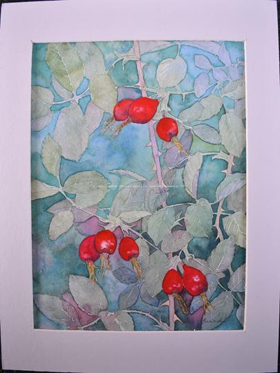 Ludmila Businská - Letní motiv s růží