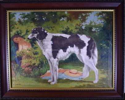 Julius Horn - Dívčí akt se psem