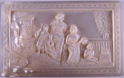 Střední Evropa, kolem poloviny 19. století - Reliéf s motivem rodiny oplakávající otce