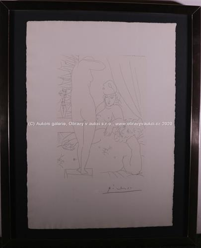 Pablo Picasso - Le Repos du sculpteur et le modéle