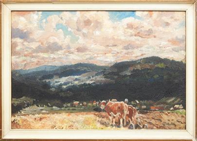 Gustav Mallý - Horská krajina