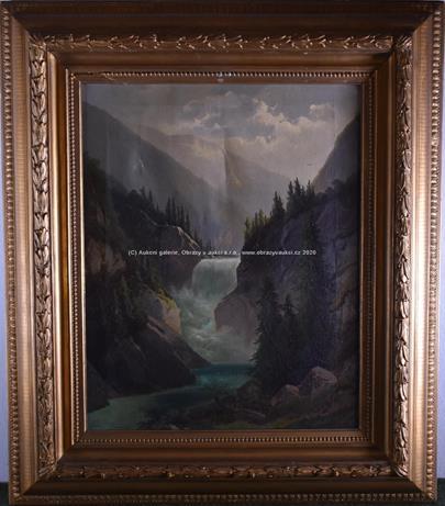 Ferdinand Lepié - Vodopád v horách